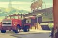 Картинка Грузовик, Склад, Оружие, Тягач, Надписи, Grand Theft Auto V, Rockstar North
