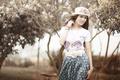 Картинка девушка, настроение, шляпка