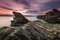 Картинка море, закат, скалы, Bulgaria, Black Sea