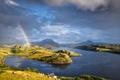 Картинка горы, тучи, природа, радуга, Шотландия, озеро Инчард, северо-западное нагорье