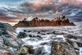 Картинка море, горы, Исландия