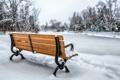 Картинка Park, Snow, Bench