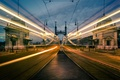 Картинка bridge, tilt-shift, Motion, Budapest