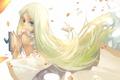 Картинка девушка, волосы, лепестки, арт, книга, honma meiko, joseph lee