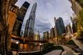 Картинка город, небоскребы, вечер, Чикаго, Иллиноис
