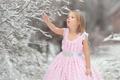 Картинка снег, природа, девочка