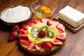 Картинка ягоды, киви, клубника, пирог, торт, крем, десерт