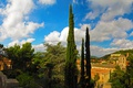 Картинка небо, город, фото, дома, Испания, Gerona