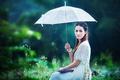 Картинка лето, девушка, зонт, азиатка
