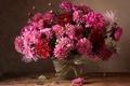 Картинка осень, букет, хризантемы