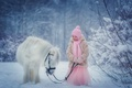 Картинка зима, снег, природа, ребенок