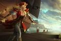 Картинка девушка, корабль, шляпа, пират, Heroes of Newerth, Artesia