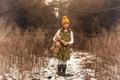 Картинка шапка, мишка, прелесть, Lorna Oxenham, On the trail, игрушка, девочка