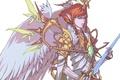 Картинка крылья, меч, мужчина, доспехи