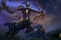 Картинка орел, лук, стрела, heroes of newerth, Sagittarius, Emerald Warden