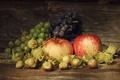 Картинка яблоки, виноград, лещина