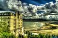 Картинка Llandudno Wales, Облака, Великобритания, Побережье, Дома, Город, фото