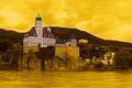 Картинка желтый, город, фото, фон, замок, Австрия, Schoenbuehel