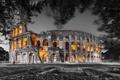 Картинка ночь, город, Roman Colosseum