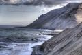 Картинка море, горы, берег