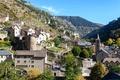 Картинка деревья, горы, камни, скалы, Франция, дома, городок