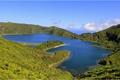 Картинка небо, горы, озеро, Португалия, Азорские острова, остров Сан-Мигель