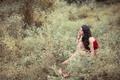 Картинка девушка, природа, азиатка