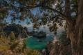 Картинка пляж, природа, океан, скалы, бухта, Калифорния