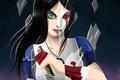Картинка стекло, осколки, кровь, игра, Алиса, нож, Alice Madness Returns