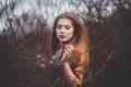 Картинка губки, рыжеволосая, Tereza, боке