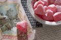 Картинка фон, сердце, конфета