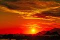 Картинка море, волны, солнце, облака, горы, зават