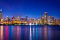 Картинка ночь, огни, небоскребы, Чикаго, USA, Chicago, мегаполис