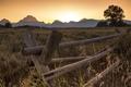 Картинка закат, горы, природа, Grand Teton National Park