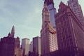 Картинка осень, город, здания, небоскребы, Чикаго, Иллиноис