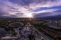 Картинка пейзаж, дома, Германия, Мюнхен, панорама, стадион, Олимпийский парк