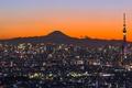 Картинка Итикава, ночь, башня, огни, Япония, панорама, гора