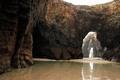 Картинка камни, люди, Испания, лабиринты, Playa Las Catedrales, Галисия