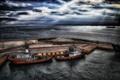 Картинка ночь, корабли, порт