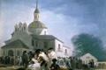 Картинка люди, картина, церковь, храм, Франсиско Гойя, Обитель в Сан-Исидро