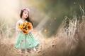Картинка лето, цветы, девочка