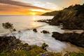 Картинка beach, rocks, sunrise, byron bay