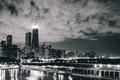 Картинка Чикаго, Небоскребы, Высота, USA, Chicago, Хмуро