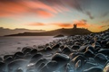 Картинка Long Exposure, Seascape, Dunstanburgh Castle, slippery rocks
