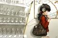 Картинка девушка, улыбка, наушники, бокалы, полка, сумка, art