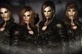Картинка ворон, Skyrim, девушки, Dark Angels, броня