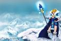 Картинка Art, Blue, Valve, Crystal Maiden, Dota 2, Ice, Minimalism