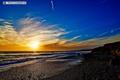 Картинка пляж, Природа, Sunset, San Simeon