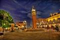 Картинка свет, ночь, парк, башня, фонарь, сша, дворец