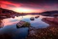 Картинка горы, озеро, Франция, зарево, Сель, Лангедок-Руссильон
